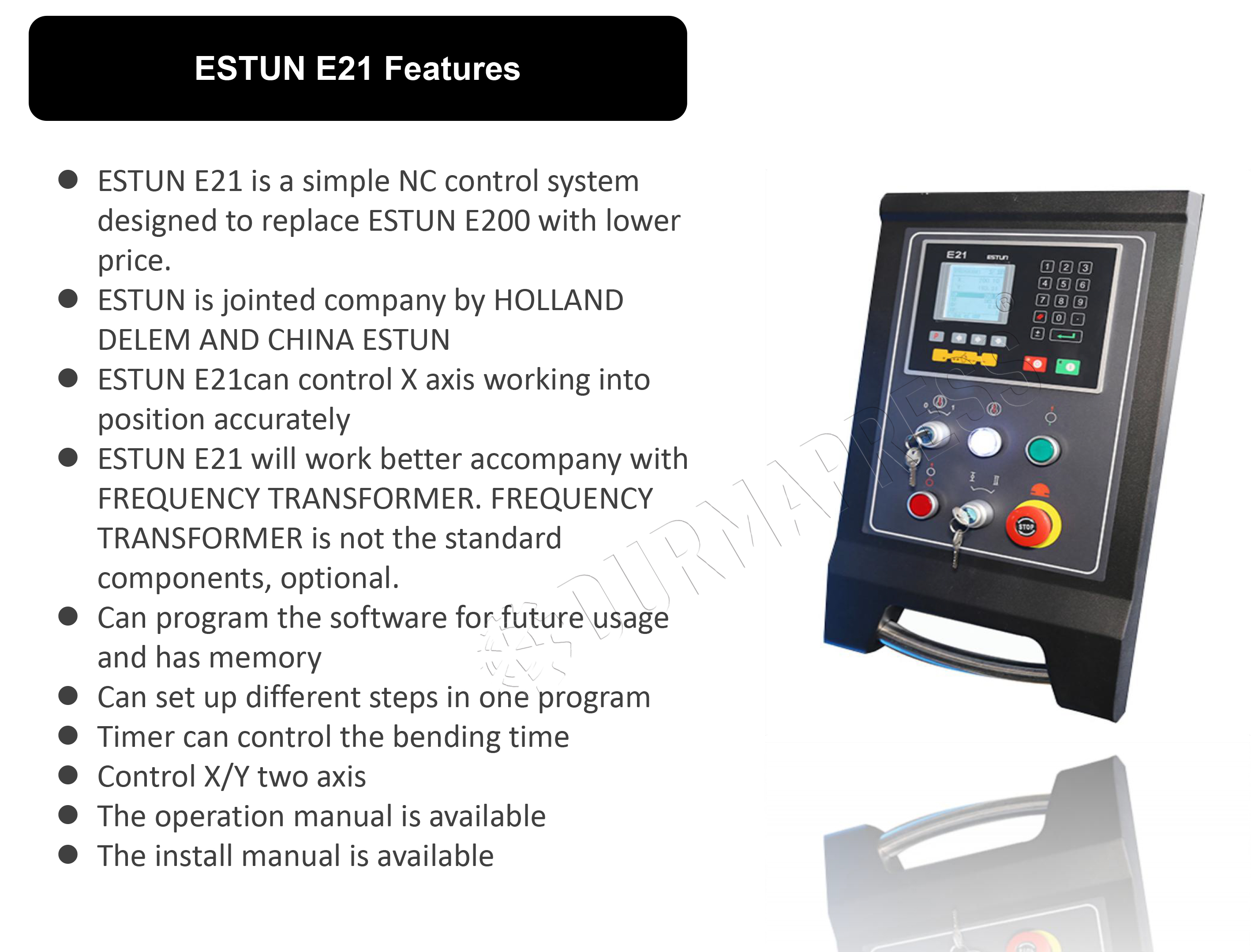 Introduction to E21 CNC system From ESTUN