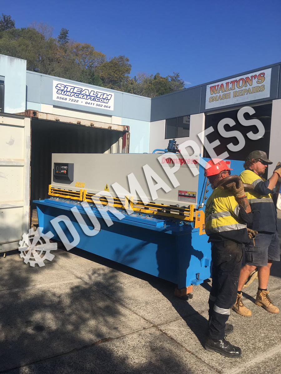 QC12Y 6x3200 shearing machine arrived our Australia workshop