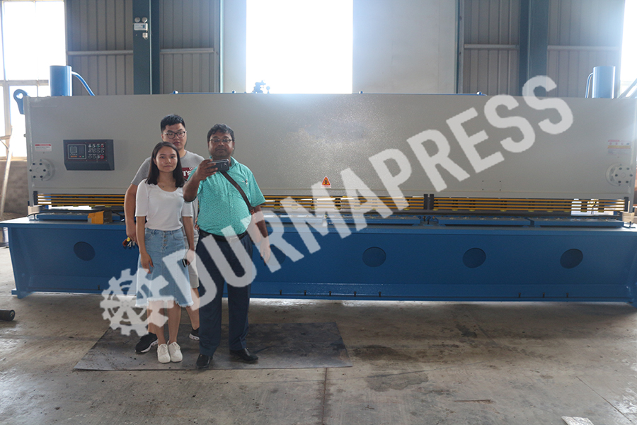 Bangladesh clients visited Durmapress factory for 6000mm shearing machine